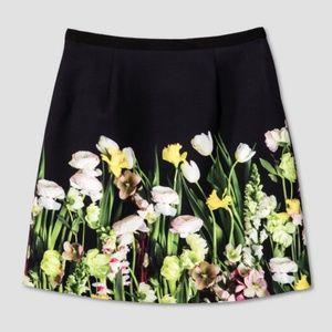 Victoria Beckham Target Women Floral Skirt Black S